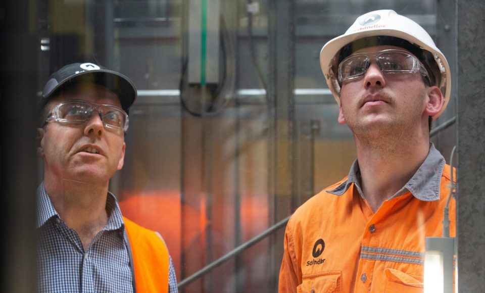 Schindler Australia's apprenticeship program has been running for over 30 years.