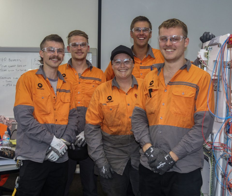 At Schindler we have a success rate of over 95% of apprentices