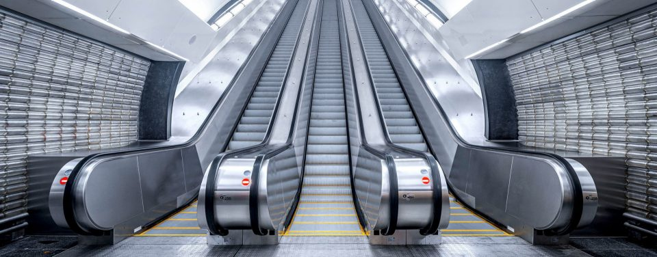 Schindler escalators move passengers safely and quickly providing a variety of innovative mobility solutions.