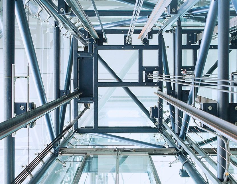 Double-deck elevators for more rentable space