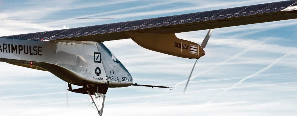Solar Impulse in the sky - A snapshot of the Solar Impulse plane in the sky