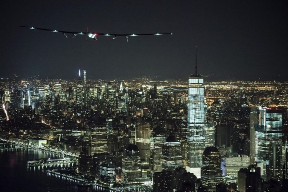 Solar Impulse lands in New York - June 11th 2016: Andre Borschberg landed in New York completing the 14th leg of Round the World Journey and marking the final US leg. Departed from Abu Dhabi on march 9th 2015, the Round-the-World Solar Flight will take 500 flight hours and cover 35'000 km. Swiss founders and pilots, Bertrand Piccard and André Borschberg hope to demonstrate how pioneering spirit, innovation and clean technologies can change the world. The duo will take turns flying Solar Impulse 2, changing at each stop and will fly over the Arabian Sea, to India, to Myanmar, to China, across the Pacific Ocean, to the United States, over the Atlantic Ocean to Southern Europe or Northern Africa before finishing the journey by returning to the initial departure point. Landings will be made every few days to switch pilots and organize public events for governments, schools and universities.