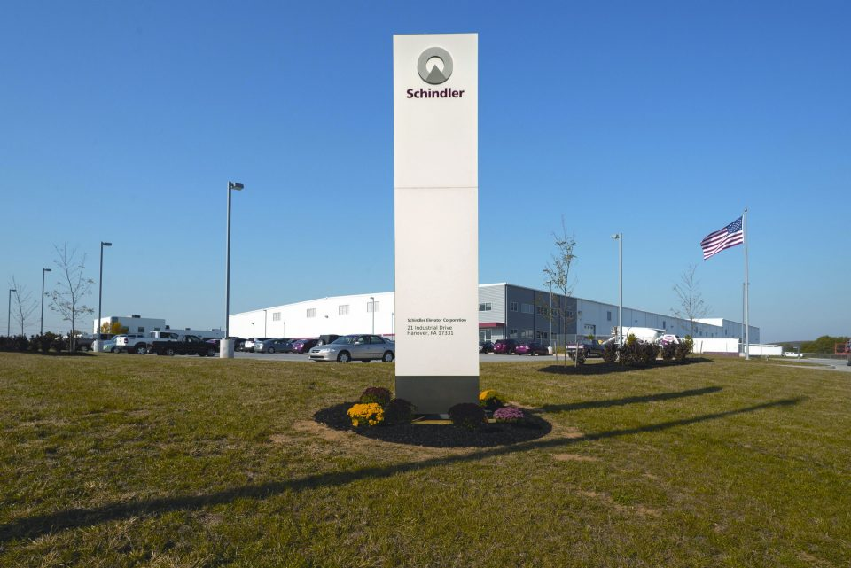 Schindler Elevator Hanover - Schindler's state-of-the-art LEED Gold certified manufacturing facility in Hanover.