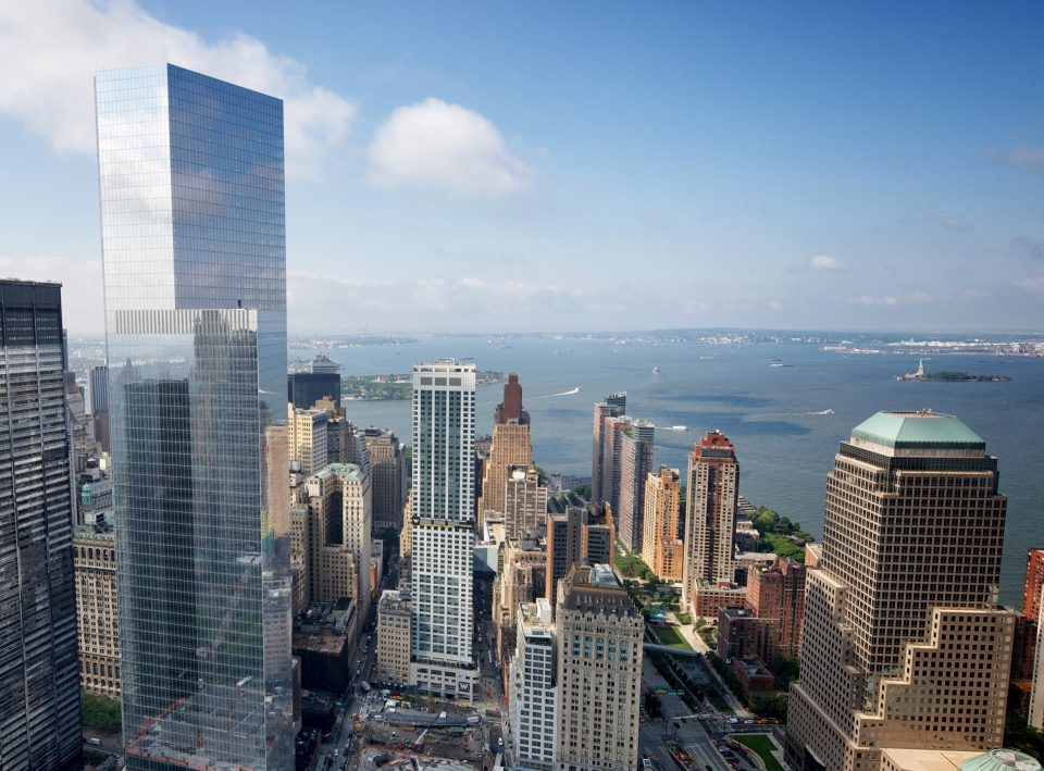 Aerial view of 4 World Trade Center