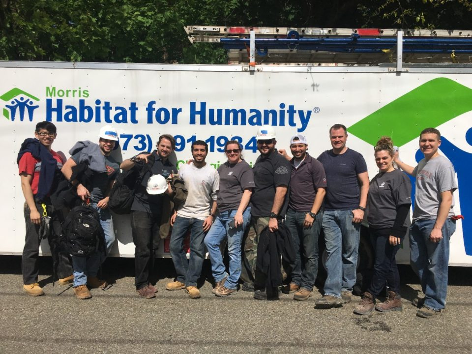 Habitat for Humanity - Schindler employees volunteering at 10 Willow Street