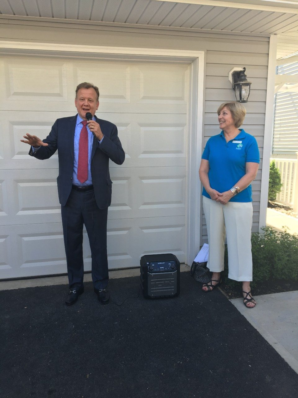 Habitat for Humanity - CEO, U.S. Operations - Schindler, Greg Ergenbright speaks at ribbon cutting ceremony