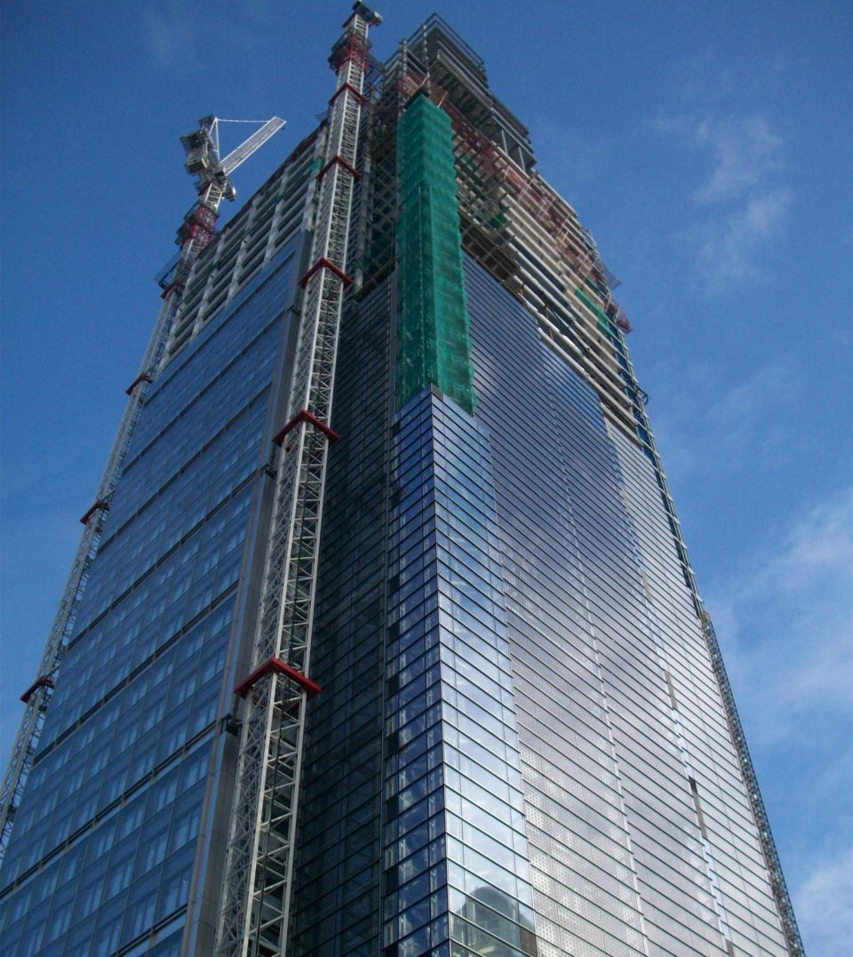 Heron Tower under construction