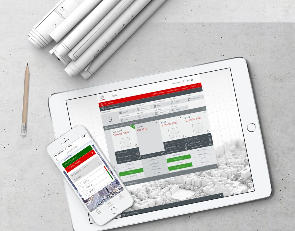 Schindler Digital Plan - iPad et iPhone